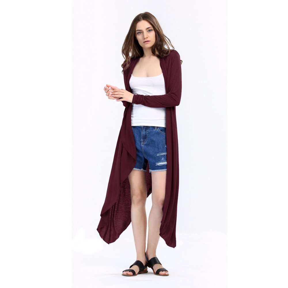 Maxi Cardigan Feminino 2017 Autumn Long Sleeve Poncho Irregular ...