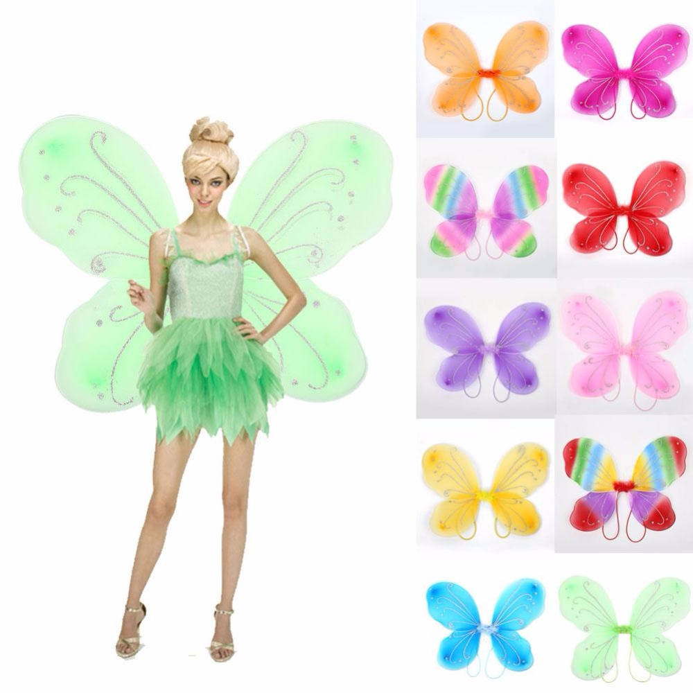 Butterfly Costume Girls Wings Christmas Halloween Kids Prop House Party Decors
