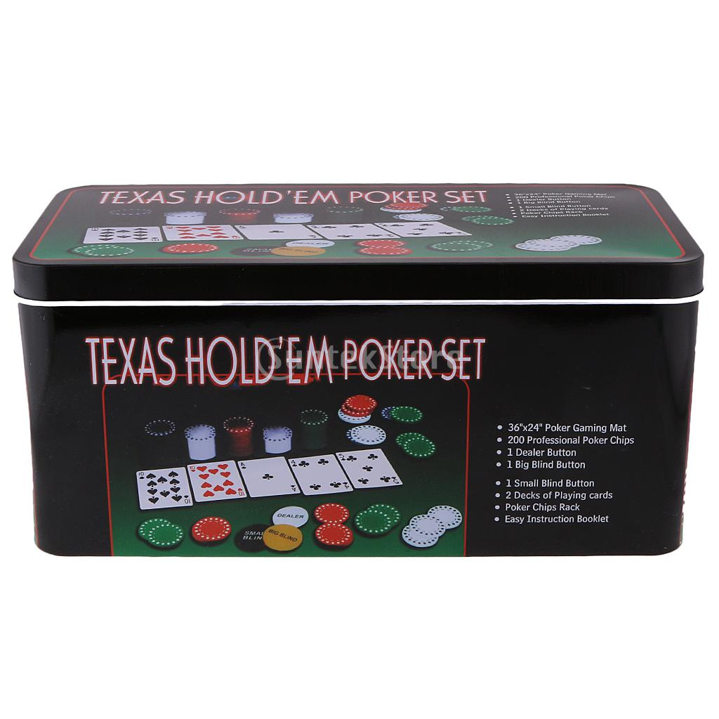 Set of 200pcs Poker Chips for Texas Hold'em Poker Card Party Game Supplies