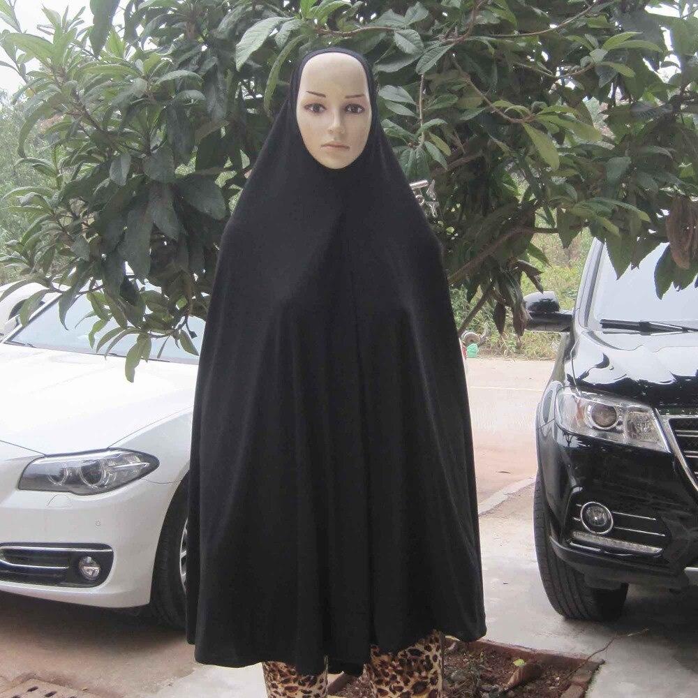 Wholesale Women Kaftan Muslim Maxi Lycra Maxi Dress Islam Jilbab Abaya Niqab Scarf Hijab Jd024