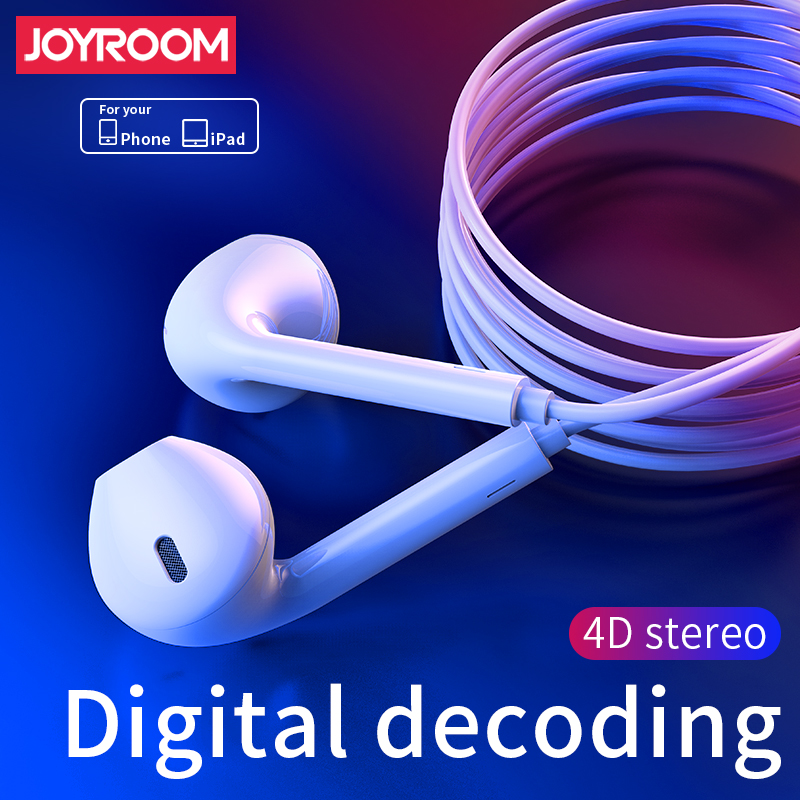 JOYROOM EP3 Earphone In Ear Headphones Wired with Microphone for Apple iPhone XS Max XR 7 8 Plus