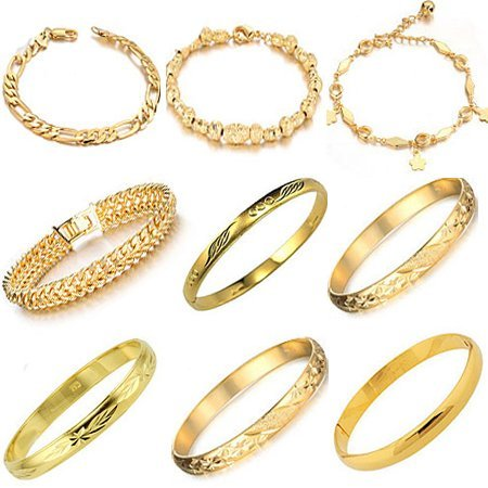 OPK Brand 10pcs/lot Gold Plated Woman Bracelet Wedding Bridal Jewelry Bangle Free Shipping Via DHL EMS MIXED ORDER
