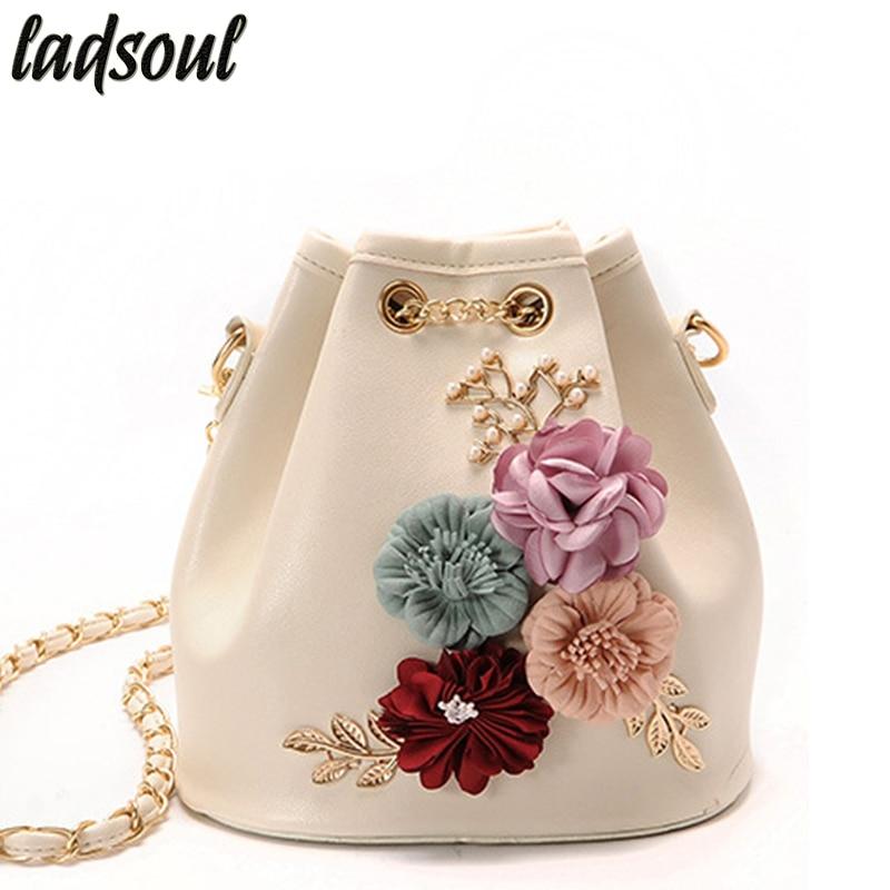 LADSOUL Women Messenger Bags Good Quality Luxury Bag Designer Chain Ladies Clutches Flower Women Crossbody Bags For Women A755/g