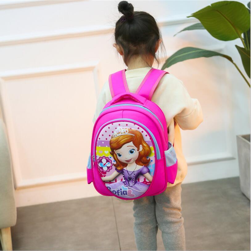 3D Sofia School Bags Orthopedic Children Boy Girls Spiderman School Backpack Teenager Schoolbag Kids Student Backpacks
