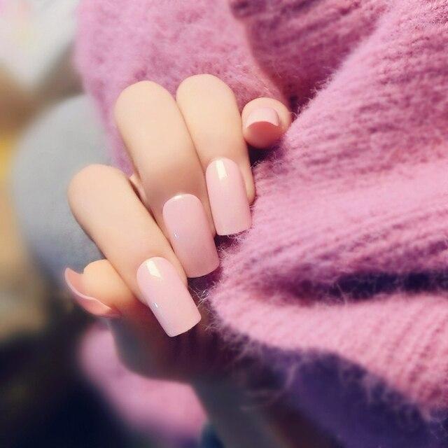 Crema alta calidad color puro mate uñas postizas set francés uñas ...