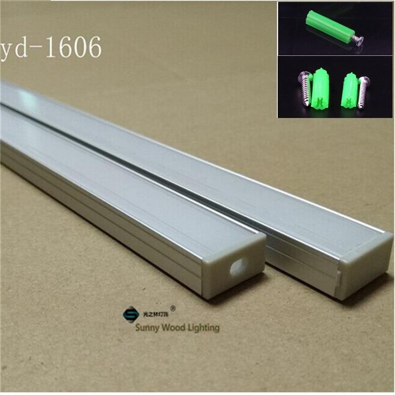 10-40 pz/lotto 2 m profilo in alluminio 80 pollici ha condotto la luce bar per doppia fila ha condotto la striscia, w18 * H8.5mm alloggiamento di alluminio di 16mm pcb