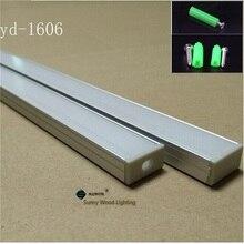 80 10 40 pçs/lote 2m perfil de alumínio polegadas led barra de luz para duas carreiras tira conduzida, carcaça de alumínio de 16 W18 * H8.5mm milímetros pcb