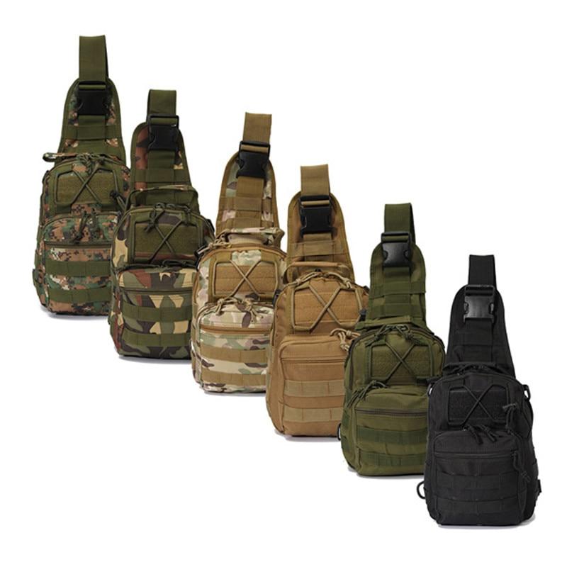 야외 스포츠 나일론 전술 군사 슬링 단일 어깨 가슴 가방 팩 캠핑 하이킹 배낭 등산 가방