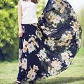 Custom Made лето стиль цветочные юбка женщины плюс размер высокая талия печати шифон юбки