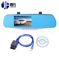 Meilleur USB obd2/elm327 + Voiture DVR Full HD 1080 p voiture camerar Vision nocturne dashcam avec vue arrière caméra Auto Greffier livraison livraison