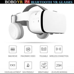 "Image 3 - BOBO VR Z6 Bluetooth 3D gafas Realidad Virtual caja Google cartón estéreo micrófono casco para 4,7 6,5"" smartphone + Joystick"