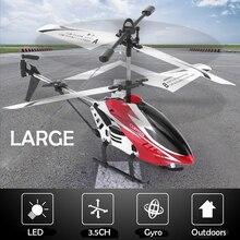 3.5CH одно лезвие большой пульт дистанционного управления металлический сплав RC вертолет с гироскопом RTF для детей Открытый летающие игрушки подарок