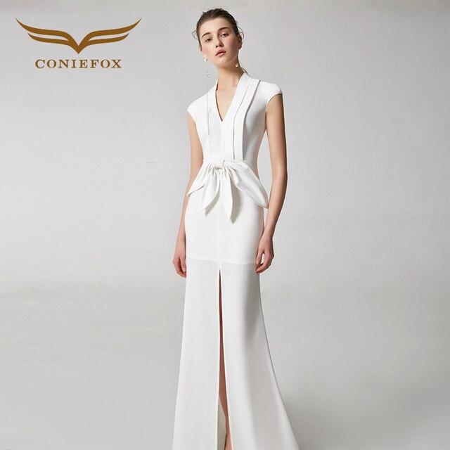 Coniefox 31928 weiß edlen eleganten bankett abendkleid partei prom ...
