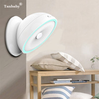 Dimmable PIR Motion Sensor LED Light With 360 Degree Rolation USB Rechargeable Cabinet Wall Lamp Stair