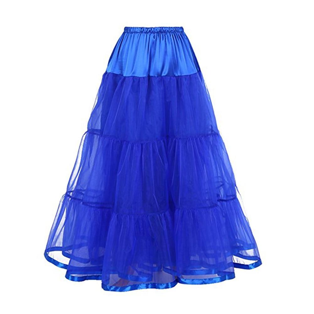 Women's A Line Ankle-Length Bridal Petticoat Long Wedding Gown Underskirt Tiered Layer Full Petticoat Slips Underskirt