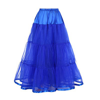 Women's A Line Ankle-Length Bridal Petticoat Long Wedding Gown Underskirt Tiered Layer Full Petticoat Slips Underskirt