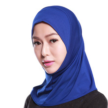 Arab Plain Hijabs Muslim Womens and Girls Mini Breathable Hijab Hat