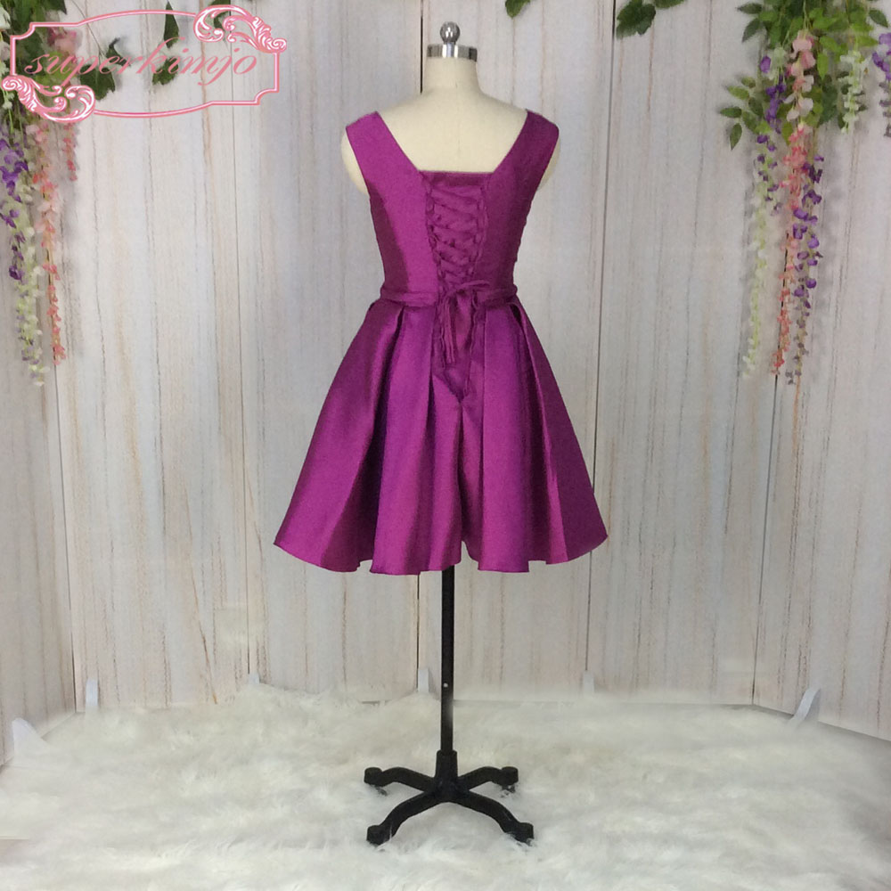 SuperKimJo Purple Bridesmaid Dresses Short Wedding Party Dresses ...