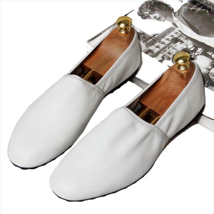Appartements Bateau Mode La Noir Été En Chaussures Cuir Confortable kaki Britannique Véritable Hommes Doux Mocassins Conduite De blanc Respirant 033 08wqZFqAvn