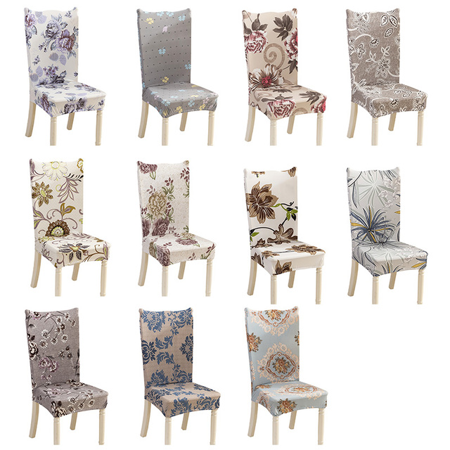 Fl Pattern Universal Spandex Stretch Chair Covers Dining Seat Parson Slipcovers Home Decor
