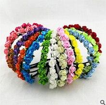 Women Girl Bride Boho Flower Headband Festival Wedding Floral Garland Hair Band Headwear accessories wholesale Head band hair