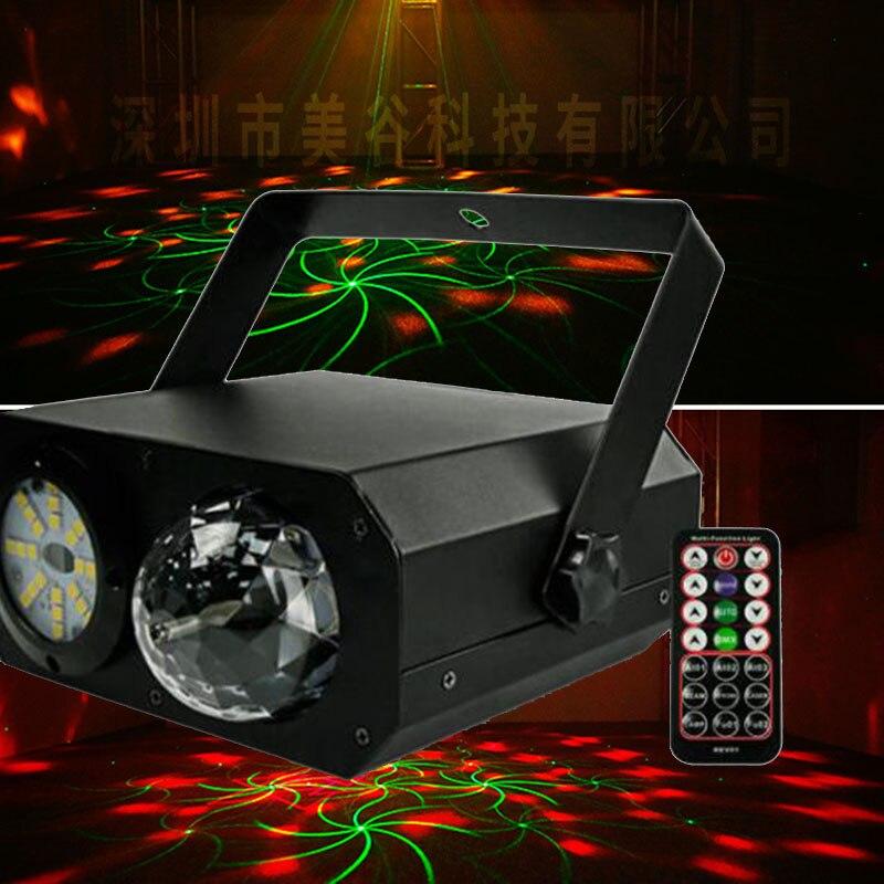 dmx dj  head Full Color LED and RG Laser Stage Light Projector stage light 110V-240V 36W  A837 rg mini 3 lens 24 patterns led laser projector stage lighting effect 3w blue for dj disco party club laser