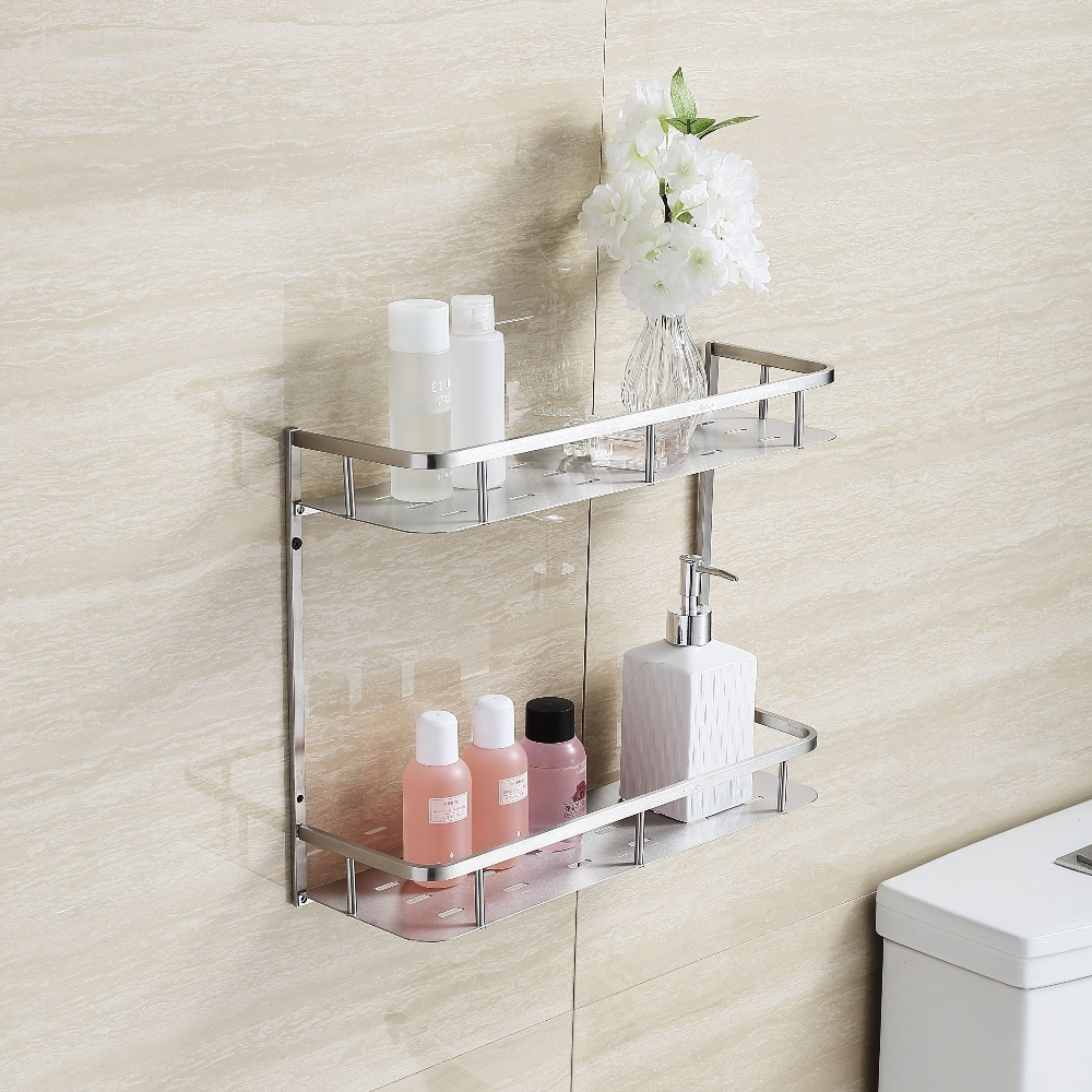 blhs823 bathroom product accessories stainless steel bathroom wall shower shelf shower caddy storage rack