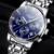 2016 Novo Relógio De Luxo Marca GUANQIN Homens Relógio De Aço de Quartzo Moda Relógio Masculino Relógios À Prova D' Água Com Calendário Completo