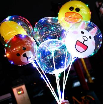 Wedding Birthday Party Decoration Long Handle Luminous Balloon With Lamp Pole Led Balloons - Free Ship