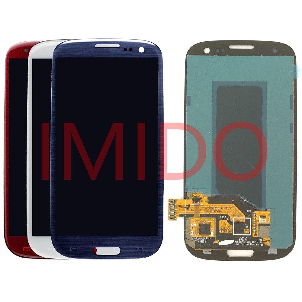 Pour Samsung Galaxy S III S3 i9300 Super AMOLED LCD affichage + écran tactile numériseur assemblée pièces de rechange