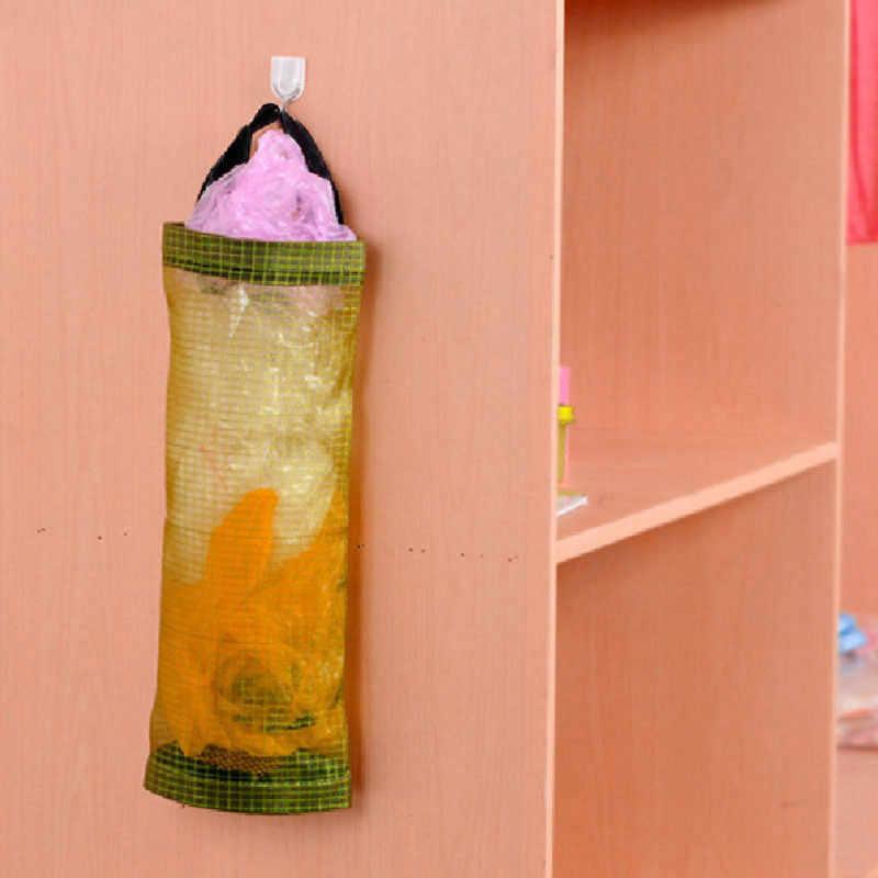 Дома Бакалея сумка для хранения держатель на стене сумка кухонный мешок для хранения Диспенсер Кухонный Органайзер из пластика 10,22
