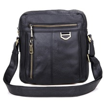 Real Cow Leather Vintage Mens Messenger Bag Rough Style Novelty Sling For Man 1011A