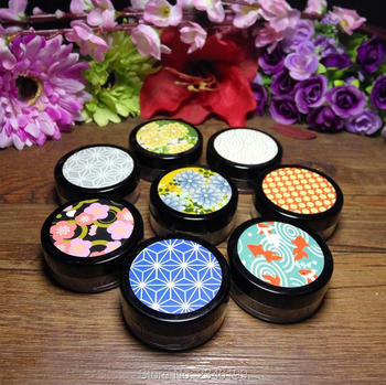10G 40pcs/lot Retro Style Empty Loose Powder Case with Sifter, Plastic Cosmetic Powder Container with Puff,Cute Loose Powder Box