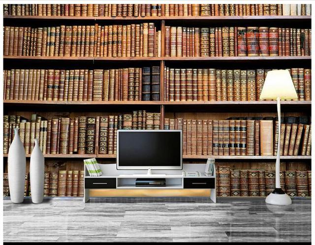 3d wallpaper 3d muurschilderingen behang voor muren 3 d boekenkast ...