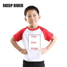 купить Kids Custom Shirt Super Soft Custom T-Shirt Unisex Girls Tee Shirts Short Sleeves White Tops Cotton Black Shirt Toddler Girl дешево