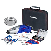 WORKPRO 152PC Variable Speed Dremel Rotary Tool Electric Drill with Bit Sets Wood working Tool Set