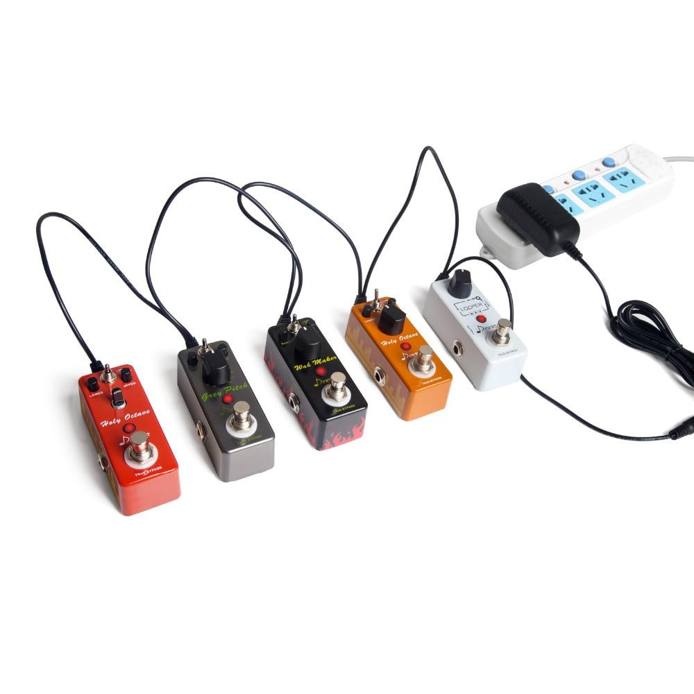 Donner DPA-1 Gitaarpedaal Voeding Adapter 9V DC Negatief 1A Tip 5-weg - Muziekinstrumenten - Foto 3