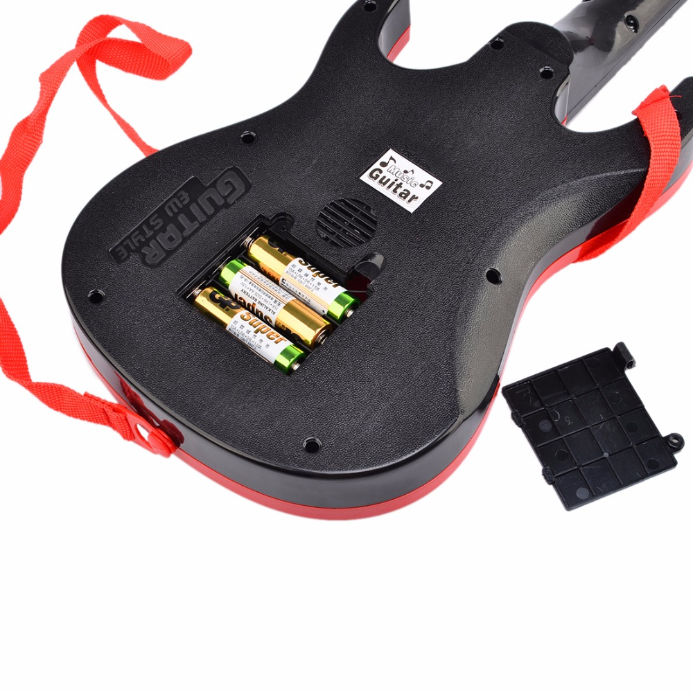 Surwish-Rock-Band-Music-Electric-Guitar-4-Strings-Kids-Musical-Instruments-Educational-Toy-1