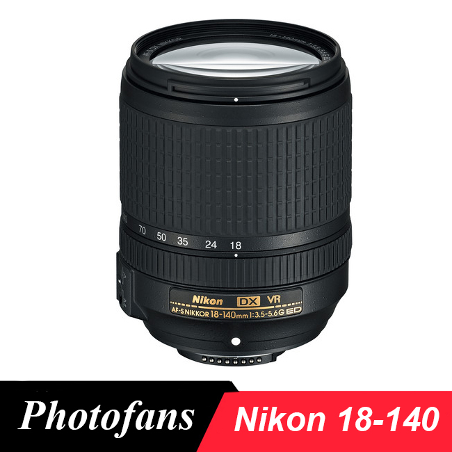 Nikon 18-140 AF-S DX NIKKOR 18-140mm f/3.5-5.6G ED VR Lens for Nikon D3200 D3300 D3400 D5200 D5300 D5500 D5600 D7100 D7200 D90 2018 girl summer sets new children s skirt 2pcs college chiffon clothing set white half sleeve blouse black long skirts suits
