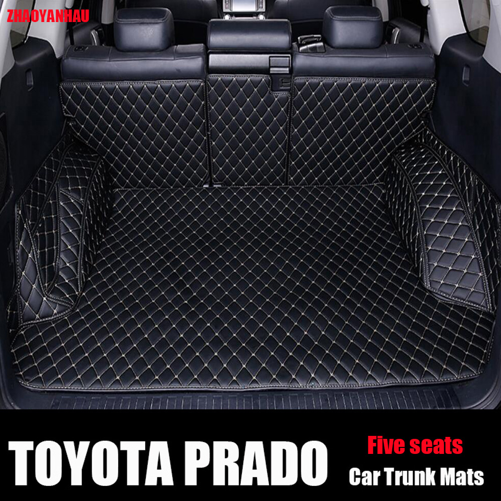 ZHAOYANHUA Custom Fit Car Trunk Mat Car Cargo Liner For Toyota Prado Land Cruiser Prado 120 150 Car Styling Carpet Floor Liners