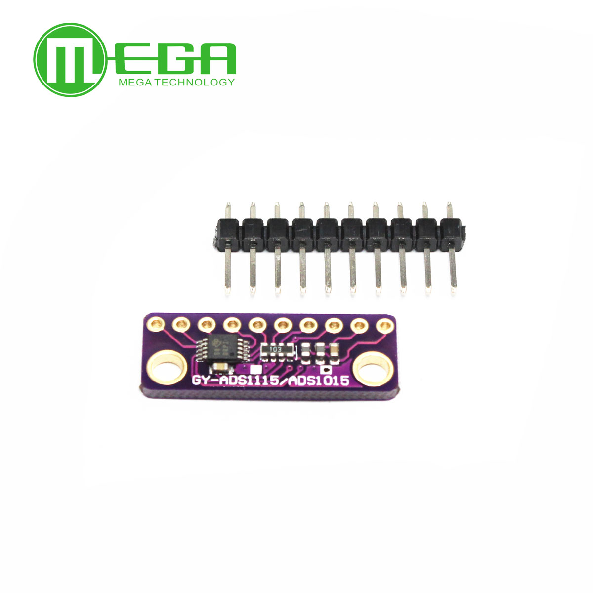 I2C ADS1115 ADS1015 16 Bit ADC 4 channel Module with Programmable Gain  Amplifier 2 0V to 5 5V ~
