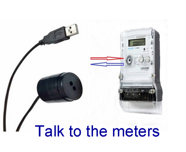 Optical Ports For Meters : Iec energy meters usb data reading cable