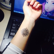 (Min Order $0.5) Waterproof Temporary Tattoo Tatoo Henna Fake Flash Tattoo Stickers Taty Tatto Steering Wheel SYA051