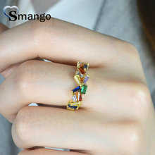5Pieces,Women Fashion Jewelry,The Rainbow Series Irregular Shape Rings,Gold Plating Pave Setting CZ Rings