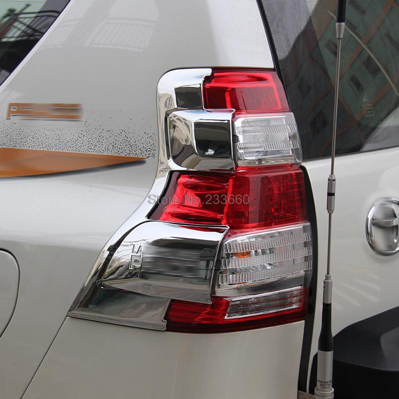 For Toyota Land Cruiser Prado J150 2014 2015 Chrome Tail Rear headLight lamp cover car Taillight lamp shade frame trims