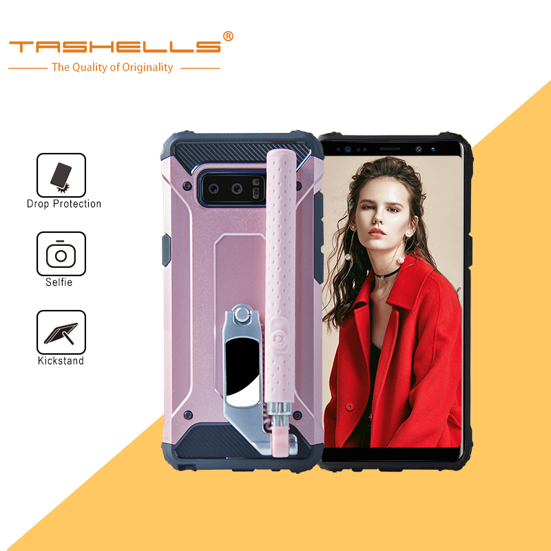 quality design f1207 1b179 US $15.9  Tashells Hybrid Armor TPU Wired Selfie Stick Case For Samsung  Galaxy Note8 Phone Cover For Samsung Note5 Galaxy Note4-in Fitted Cases  from ...