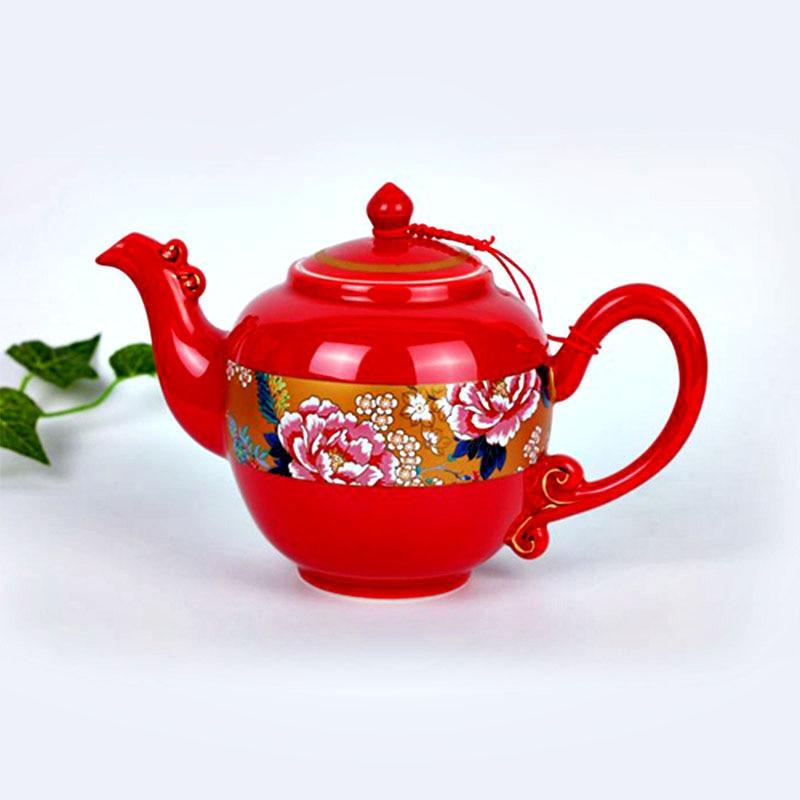 GLLead Chinese Style Qırmızı Peion Rəngli Seramik Qəhvəyi Çay - Mətbəx, yemək otağı və barı - Fotoqrafiya 3