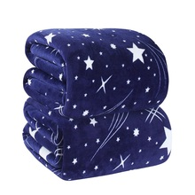 Estrella ropa de cama manta de lana para el otoño/primavera, multi-tamaño de vellón manta en la cama, 100 poliéster throw manta/manta de franela para el sofá