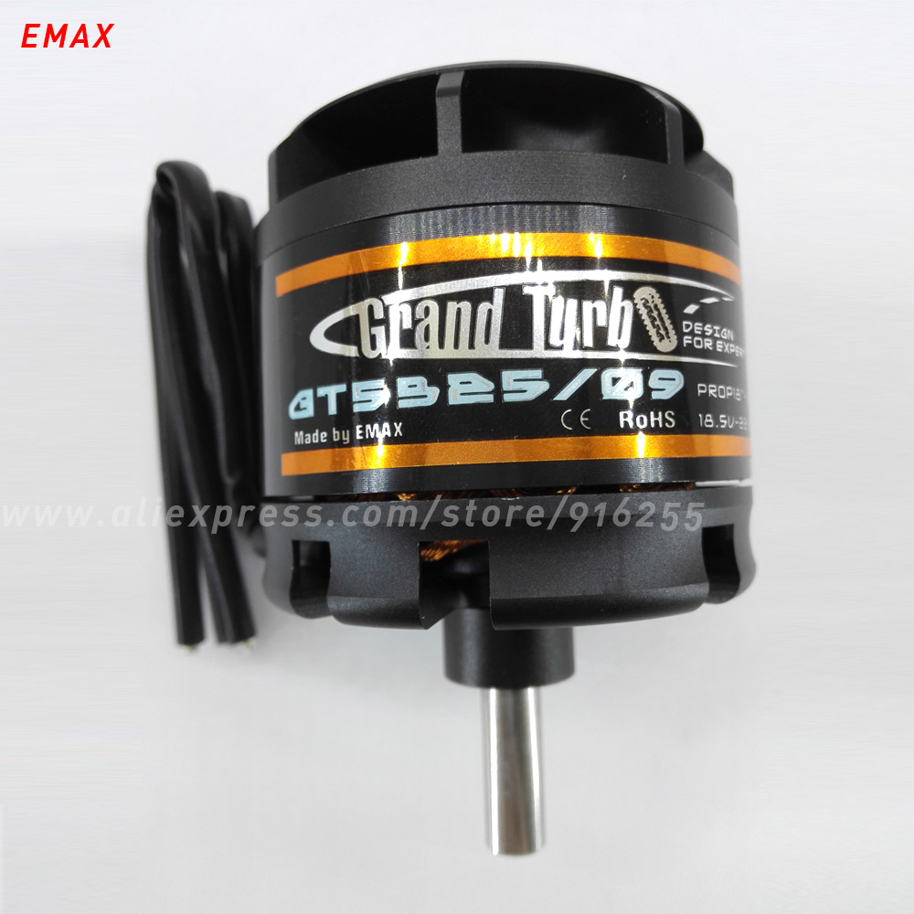 EMAX rc brushless outrunner motor 260kv 325kv model airplane GT series 8mm shaft  6-8s 63mm for aircraft electric vehicle folding s 1200 rotor shaft professional grade uav rack shaft large frame for 8 axis rc airplane plane