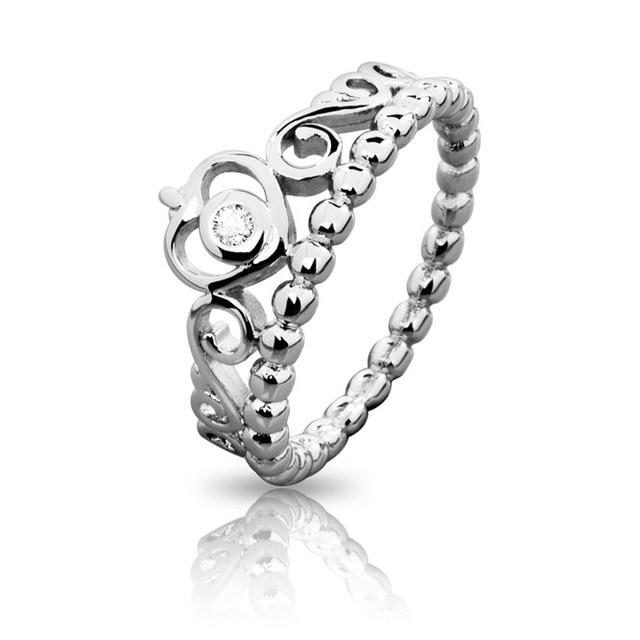 anillo pandora corona plata